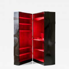 Jacques Jarrige Travelling Cabinet on Wheels with Shelves and Desk by Jacques Jarrige - 421491