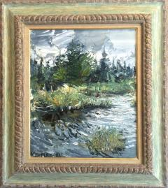 Jacques Kupfermann Expressionist Landscape With Lake - 1230446