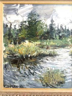 Jacques Kupfermann Expressionist Landscape With Lake - 1230447