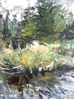 Jacques Kupfermann Expressionist Landscape With Lake - 1230448