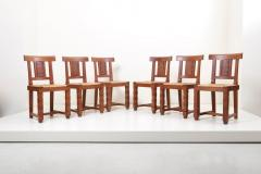 Jacques Mottheau Set of Six Wooden Chairs by Jacques Mottheau France 1930s - 1044960