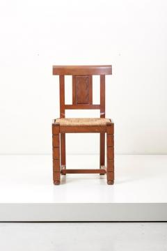 Jacques Mottheau Set of Six Wooden Chairs by Jacques Mottheau France 1930s - 1044962