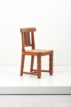 Jacques Mottheau Set of Six Wooden Chairs by Jacques Mottheau France 1930s - 1044963