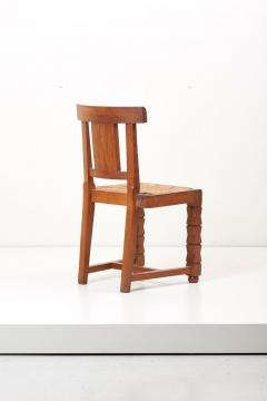 Jacques Mottheau Set of Six Wooden Chairs by Jacques Mottheau France 1930s - 1044964