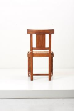 Jacques Mottheau Set of Six Wooden Chairs by Jacques Mottheau France 1930s - 1044965