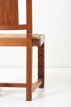 Jacques Mottheau Set of Six Wooden Chairs by Jacques Mottheau France 1930s - 1044966