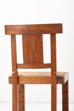 Jacques Mottheau Set of Six Wooden Chairs by Jacques Mottheau France 1930s - 1044967