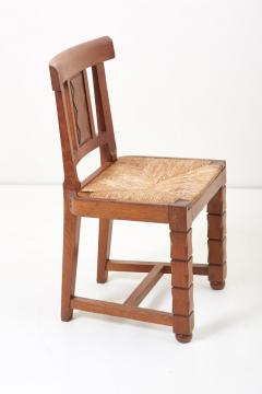 Jacques Mottheau Set of Six Wooden Chairs by Jacques Mottheau France 1930s - 1044968