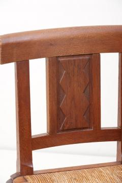 Jacques Mottheau Set of Six Wooden Chairs by Jacques Mottheau France 1930s - 1044969