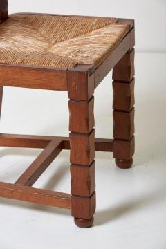 Jacques Mottheau Set of Six Wooden Chairs by Jacques Mottheau France 1930s - 1044970