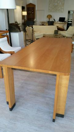 Jacques Quinet Cherrywood Dining Table with Bronze Accent Feet - 759269