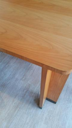Jacques Quinet Cherrywood Dining Table with Bronze Accent Feet - 759270