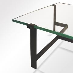 Jacques Quinet Coffee Table Model No 15254 with Minimalist Iron Frame by Jacques Quinet - 891832