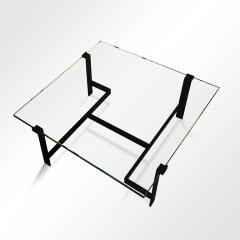 Jacques Quinet Coffee Table Model No 15254 with Minimalist Iron Frame by Jacques Quinet - 891833