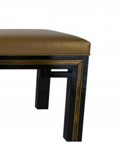 Jacques Quinet French Modern Black Lacquer Bench - 1316741