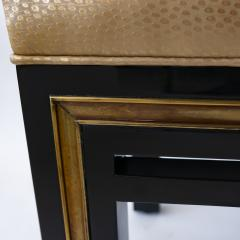 Jacques Quinet French Modern Black Lacquer Bench - 952993
