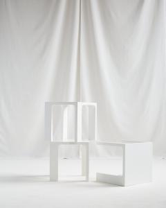 Jacques Quinet JACQUES QUINET WHITE LACQUER TABLES - 2087309