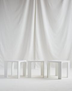 Jacques Quinet JACQUES QUINET WHITE LACQUER TABLES - 2087312