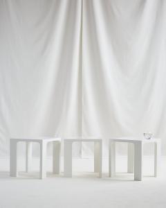 Jacques Quinet JACQUES QUINET WHITE LACQUER TABLES - 2087313