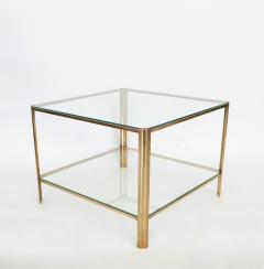 Jacques Quinet Jacques Quinet French Bronze and Glass Double Level Side or Coffee Table - 1061264