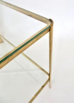 Jacques Quinet Jacques Quinet French Bronze and Glass Double Level Side or Coffee Table - 1061267
