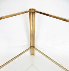 Jacques Quinet Jacques Quinet French Bronze and Glass Double Level Side or Coffee Table - 1061268