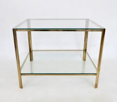 Jacques Quinet Jacques Quinet French Bronze and Glass Double Level Side or Coffee Table - 1061272