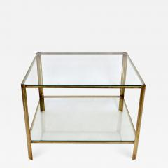 Jacques Quinet Jacques Quinet French Bronze and Glass Double Level Side or Coffee Table - 1061596