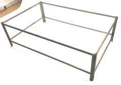 Jacques Quinet Jacques Quinet big 2 tier Bronze and Glass coffee table - 1119630