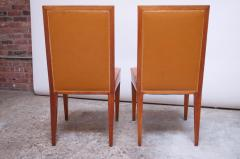Jacques Quinet Pair of Jacques Quinet Occasional Chairs in Leather and Mahogany - 1072530