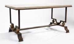 Jacques Quinet Quinet Poillerat Wrought Iron Coffee Table - 783995