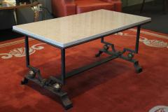 Jacques Quinet Quinet Poillerat Wrought Iron Coffee Table - 783996