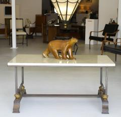 Jacques Quinet Quinet Poillerat Wrought Iron Coffee Table - 784003