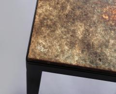 Jacques Serre Enameled Lava Stone Table with Metal Base - 1064240