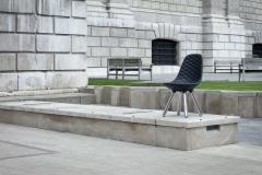 Jaime Hayon SH440 chair w out arms chrome black leather diamond - 1915342