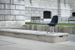 Jaime Hayon SH440 chair w out arms chrome black leather diamond - 1915343