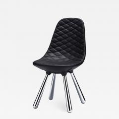 Jaime Hayon SH440 chair w out arms chrome black leather diamond - 1919631