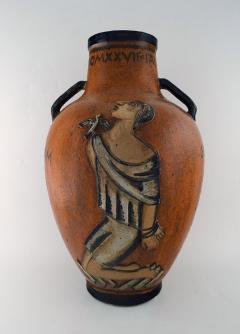 Jais Nielsen Colossal floor vase with handles in glazed ceramics - 1412649