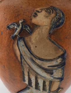 Jais Nielsen Colossal floor vase with handles in glazed ceramics - 1412658