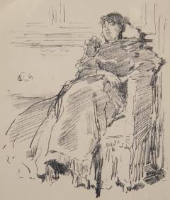 James Abbott McNeill Whistler Woman In A Red Dress a Lithograph by James Abbott McNeill Whistler circa 1894 - 1166388