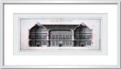 James Adam Framed Print of the Library at Landsdowne House by James Adam - 271217