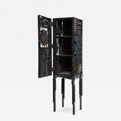 James Anthony Bearden James Bearden Segment Cabinet in Polychromed and Bronzed Steel - 675996