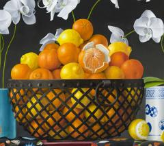 James Aponovich Still Life with Oranges in a Basket - 325260