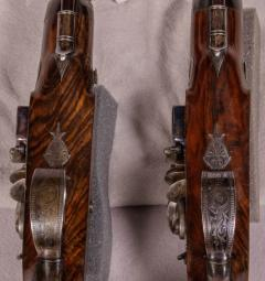 James Collins Cased Pair Flintlock Target Dueling Pistols by Collins of London - 1508689