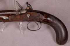 James Collins Cased Pair Flintlock Target Dueling Pistols by Collins of London - 1508693