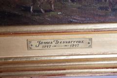James Desvarreux Larpenteur Oil on Canvas Paturage dans Yonne by James Desvarreux Larpenteur 1847 1947  - 1985990