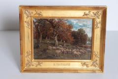 James Desvarreux Larpenteur Oil on Canvas Paturage dans Yonne by James Desvarreux Larpenteur 1847 1947  - 1985991