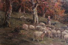 James Desvarreux Larpenteur Oil on Canvas Paturage dans Yonne by James Desvarreux Larpenteur 1847 1947  - 1985992