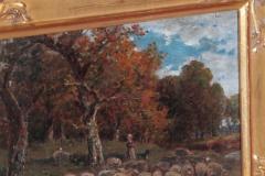 James Desvarreux Larpenteur Oil on Canvas Paturage dans Yonne by James Desvarreux Larpenteur 1847 1947  - 1985994