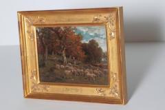 James Desvarreux Larpenteur Oil on Canvas Paturage dans Yonne by James Desvarreux Larpenteur 1847 1947  - 1985997